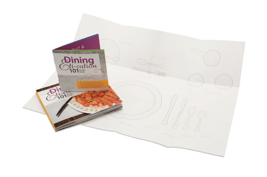 Dining Eti-cation 101, audio book cd case, booklet, and table map image 4 of 4